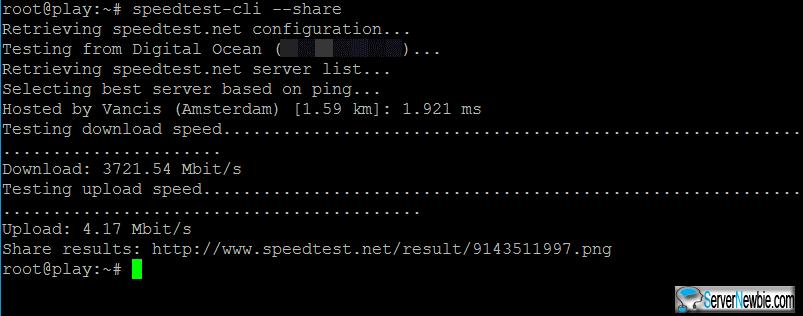 speedtest-cli --share
